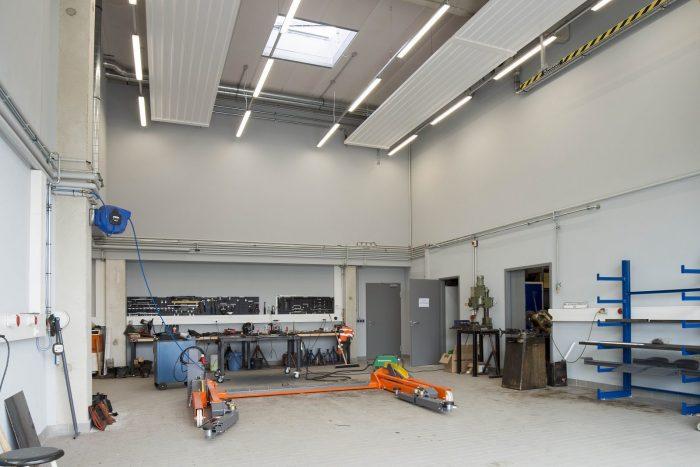Innenansicht von Hallenbau in Oldenburg