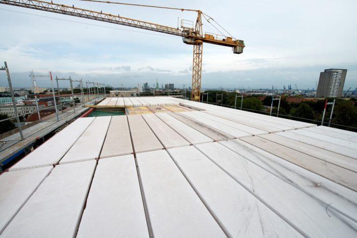Dachplatten in der Innenstadt